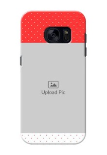 Samsung Galaxy S7 Red Pattern Mobile Case Design