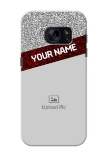 Samsung Galaxy S7 2 image holder with glitter strip Design