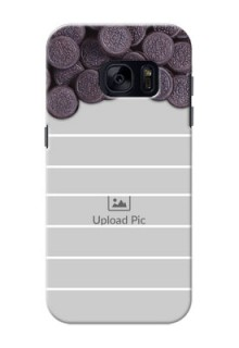 Samsung Galaxy S7 oreo biscuit pattern with white stripes Design Design