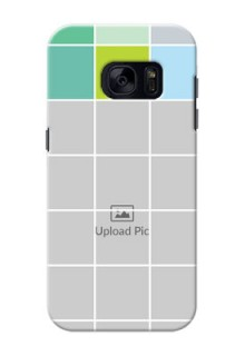 Samsung Galaxy S7 white boxes pattern Design Design