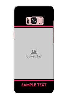Samsung Galaxy S8 Plus Photo With Text Mobile Case Design