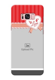 Samsung Galaxy S8 Plus Red Pattern Mobile Cover Design