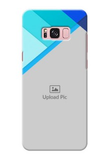 Samsung Galaxy S8 Plus Blue Abstract Mobile Cover Design