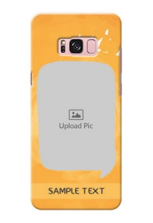 Samsung Galaxy S8 Plus watercolour design with bird icons and sample text Design Design