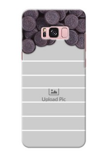 Samsung Galaxy S8 Plus oreo biscuit pattern with white stripes Design Design