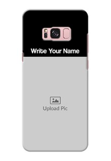 Galaxy S8 Plus Photo with Name on Phone Case