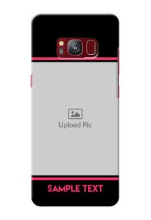 samsung Galaxy S8 Photo With Text Mobile Case Design
