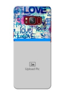 samsung Galaxy S8 Colourful Love Patterns Mobile Case Design