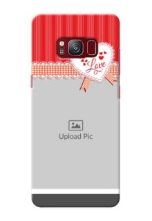 samsung Galaxy S8 Red Pattern Mobile Cover Design