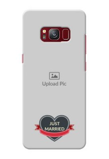 samsung Galaxy S8 Just Married Mobile Cover Design