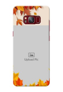 samsung Galaxy S8 autumn maple leaves backdrop Design