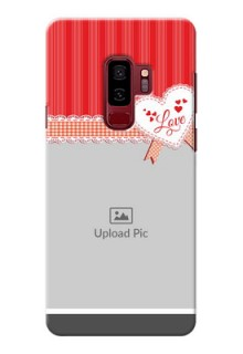 Samsung Galaxy S9 Plus Red Pattern Mobile Cover Design