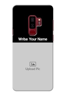 Galaxy S9 Plus Photo with Name on Phone Case