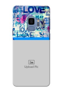 Samsung Galaxy S9 Colourful Love Patterns Mobile Case Design