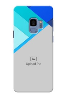 Samsung Galaxy S9 Blue Abstract Mobile Cover Design