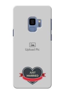 Samsung Galaxy S9 Just Married Mobile Cover Design