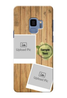 Samsung Galaxy S9 3 image holder with wooden texture  Design