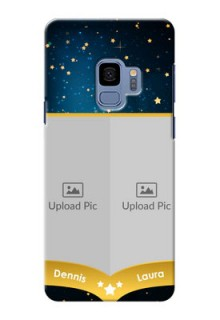 Samsung Galaxy S9 2 image holder with galaxy backdrop and stars  Design