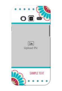 Samsung Grand 2 Colourful Flowers Mobile Cover Design