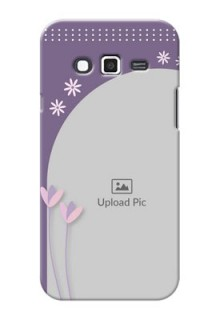 Samsung Grand 2 lavender background with flower sprinkles Design Design
