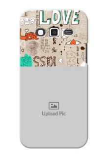Samsung Grand 2 love doodle  pattern design Design Design