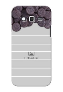 Samsung Grand 2 oreo biscuit pattern with white stripes Design Design