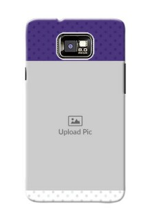 Samsung I9100 Galaxy S II Plus Violet Pattern Mobile Cover Design
