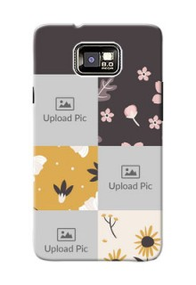 Samsung I9100 Galaxy S II Plus 3 image holder with florals Design