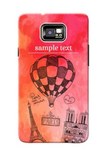 Samsung I9100 Galaxy S II Plus abstract painting with paris theme Design