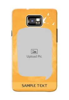 Samsung I9100 Galaxy S II Plus watercolour design with bird icons and sample text Design Design
