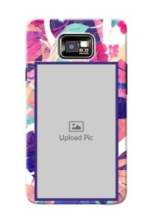 Samsung I9100 Galaxy S II Plus abstract floral Design