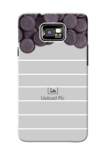 Samsung I9100 Galaxy S II Plus oreo biscuit pattern with white stripes Design Design