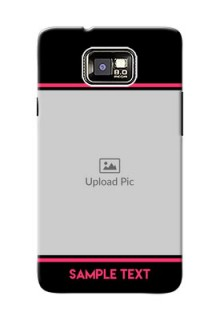 Samsung I9100 Galaxy S II Photo With Text Mobile Case Design