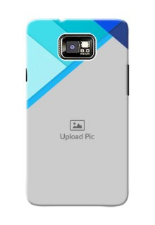 Samsung I9100 Galaxy S II Blue Abstract Mobile Cover Design