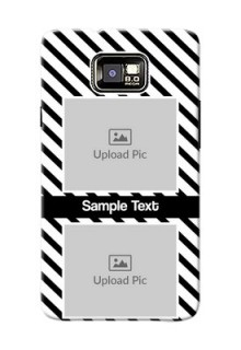 Samsung I9100 Galaxy S II 2 image holder with black and white stripes Design
