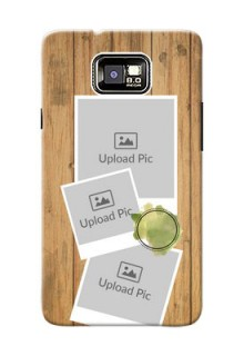 Samsung I9100 Galaxy S II 3 image holder with wooden texture  Design