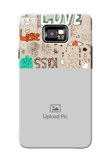 Samsung I9100 Galaxy S II love doodle  pattern Design