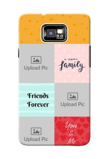 Samsung I9100 Galaxy S II 4 image holder with multiple quotations Design
