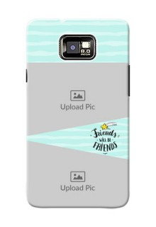 Samsung I9100 Galaxy S II 2 image holder with friends icon Design
