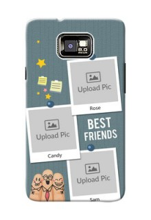 Samsung I9100 Galaxy S II 3 image holder with sticky frames and friendship day wishes Design