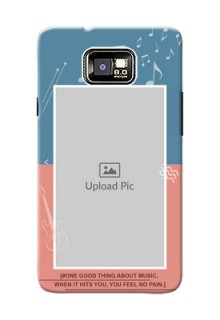 Samsung I9100 Galaxy S II 2 colour backdrop with music theme Design
