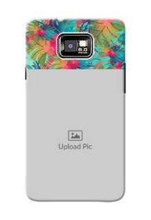 Samsung I9100 Galaxy S II colourful watercolour floral Design