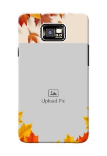 Samsung I9100 Galaxy S II autumn maple leaves backdrop Design