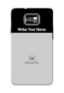 I9100 Galaxy S Ii Photo with Name on Phone Case