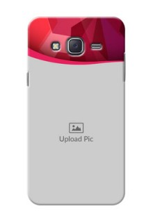 Samsung J5 (2015) Red Abstract Mobile Case Design