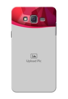 Samsung J7 (2015)  Red Abstract Mobile Case Design
