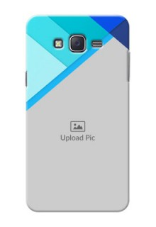 Samsung J7 (2015)  Blue Abstract Mobile Cover Design