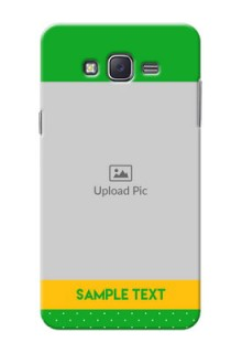 Samsung J7 (2015)  Green And Yellow Pattern Mobile Cover Design