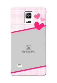 samsung Note4 (2015) Pink Design With Pattern Mobile Cover Design