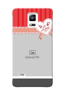 samsung Note4 (2015) Red Pattern Mobile Cover Design